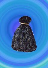 "IRIDESCENT BLACK BEADED BELLYDANCE FRINGE 40"" x 4"""