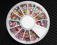 Pro Quality Nail Art Rhinestones Gems Beads Stones Wheel Nail Art Tips Decor