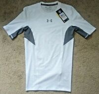 Under Armour UA Mens CoolSwitch Compression White Short Sleeve Shirt Sz S $34.99
