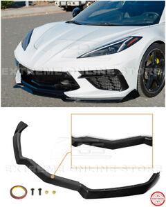 For 20-Up Corvette C8 GM 5VM Style PAINTED CARBON FLASH Front Bumper Lip Spoiler