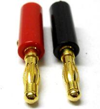C0108 RC 4.0mm 4mm doré Rouge Et Noir Connecteurs De Balle x 1 Ensemble