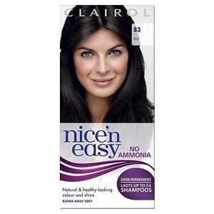 Clairol Nice'n Easy Semi-Permanent Hair Dye No Ammonia 83 Natural Black