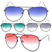 Fashion Ocean Lenses Aviator Sunglasses Women Men Gradient Lenses Black Frame