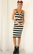Stripes Hand-wash Only Dresses Bodycon Dress