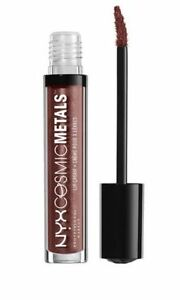 NYX Cosmic Metals Lip Cream Lipstick Shade ELITE Metallic Deep Brown blue pearl