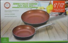 """New listing Chef's Country brand Copper Frying Pan Cookware Bakeware Set of Two 6"""" & 10"""" Lot"""