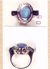OPAL, DIAMOND and Green TOURMALINE Custom Ring by Bagley & Hotchkiss,
