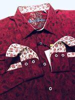 Robert Graham 2XL Shirt Mens Paisley Pink Raspberry Classic Long Sleeve New $188