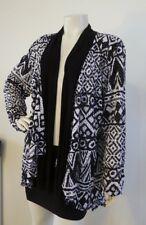 TS TAKING SHAPE Jacket Cardi Open Style Black White Size M 20 - 22