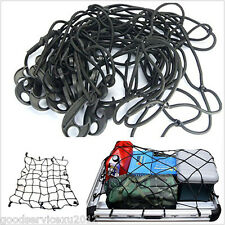 Portable Car Van Exterior Roof Rack Basket Luggage Storage Elastic Cargo Net Kit