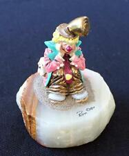 "Vtg 1990 Ron Lee Collector's Club Clown Pals 4 1/2"" Sculpture on Onyx Base #Ccg3"