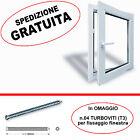 Finestra in pvc 1 anta BIANCA L 700mm (70cm) varie altezze doppio vetro&ribalta