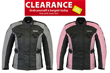 Rksports Women 3535 Motorcycle Motorbike Armoured  Jacket Black Pink Grey SALE!!