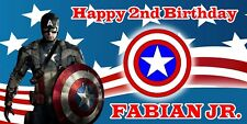Birthday banner Personalized 5ft x3ft  Captain America