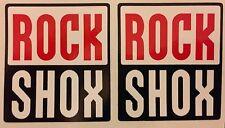 4 X Rock Shox Tenedores Marco Bicicleta Sticker Decal FREEPOST