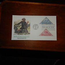 Estate Find FDC Pacific 97 Early Transportation, Mar 13, 1997 (2 Stamps)