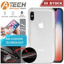 iPhone X Case Slim TPU Flexible Hybrid Clear Bumper Shockproof for Apple Iphonex White