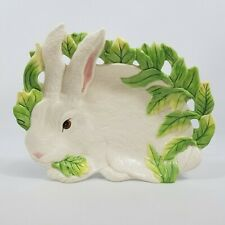 Fitz And Floyd Classics Le Lapin Collection Ceramic Bunny Rabbit Canape Plate
