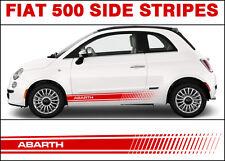 Fiat 500 500c Side Stripe Decal Stickers Graphics Premium Arbath Logo
