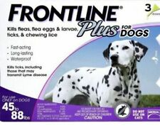 Frontline Plus for Large Dogs Flea and Tick Control 45-88 Lbs - 3 Doses Supply
