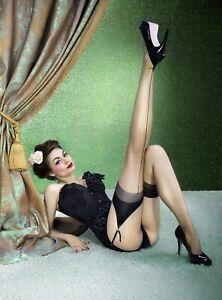 MARLENE Bas nylon sexy couture pour porte jarretelles femme voile KNITTEX T2 3 4
