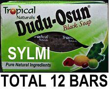 12 X Black African Soap Pure Natural Ingredients Dudu Osun Bar Acne Eczema 150g