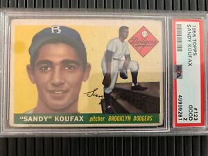 1955 Topps Sandy Koufax Baseball Card #123 PSA 2