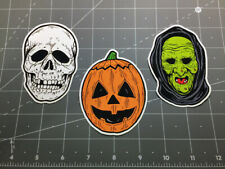 Halloween III 3 Season of the Witch mask decal sticker set Silver Shamrock masks