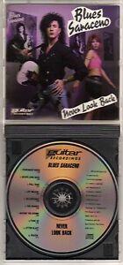BLUES SARACENO: NEVER LOOK BACK CD GUITAR INSTRUMENTAL HARD ROCK OUT OF PRINT