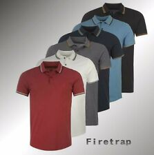 Mens Firetrap Short Sleeves Lazer Slim Fit Polo Shirt Sizes from S to 4XL