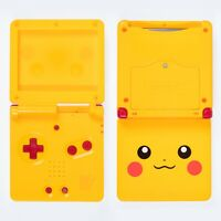 Game Boy Advance SP Housing Shell Pikachu Pokemon Yellow Kit Case Nintendo
