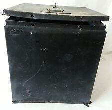 Vintage Halloween Prop Decoration Frightfully Needful Scary Black Box