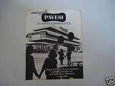 advertising Pubblicità 1966 AUTOGRILL PAVESI