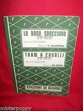 ACAMPORA Le Rose dal Film Destino + DE NISCO Tram a cavalli OST Spartiti 1951