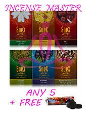 SOEX HERBAL Flavours MOLASSES / SHISHA / HOOKAH - ANY 5 x 50g + FREE CHARCOAL