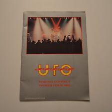 UFO - Making contact world tour 1983 TOUR PROGRAMME