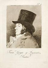 Goya Etchings & Drawings: Three Self Portraits: 3 Fine Art Prints
