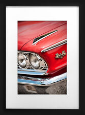 1963 Ford Galaxie 500 XL Photo Art Poster Print 13x19 Hot Rod Muscle '63 406 Red