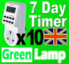 10 x New 7 Day Digital LCD Electronic Plug Programable mains Timer Switch 24hr