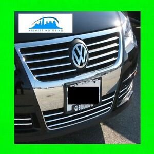 2006-2010 VW VOLKSWAGEN PASSAT B6 CHROME TRIM UPPER/LOWER GRILLE 2007 2008 2009