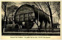 Bad Dürkheim alte Ansichtskarte ~1950/60 gelaufen Partie am grossen Fass Bäume