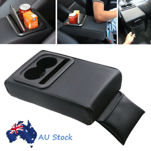 Universal Car Armrest Cushion Cover Center Console Box Pad Protector Cup Holder