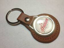 INDIAN MOTORCYCLES   Real Leather Key Rings, available in black or tan