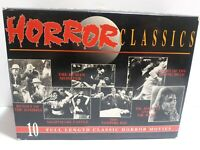 VHS HORROR CLASSICS 10 VIDEO BOX SET