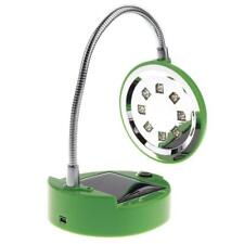 Lampe portative de lecture de chevet de lampe de bureau solaire / USB de