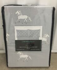 CYNTHIA ROWLEY Unicorn Grey Standard Pillowcases Set
