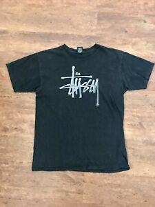 Stussy T Shirt Black Medium Vintage