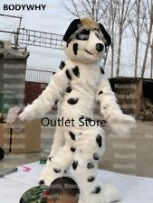 Long Fur Husky Dog Mascot Costume Cosplay Party Dress Outfits Carnival Fursuit