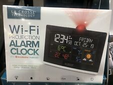 La Crosse Technology Wi-Fi Projection Alarm Clock with AccuWeather Forecast New