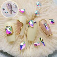 Top Crystal AB Czech Crystal Rhinestone Nail Art Decoration Flatback Small Shape